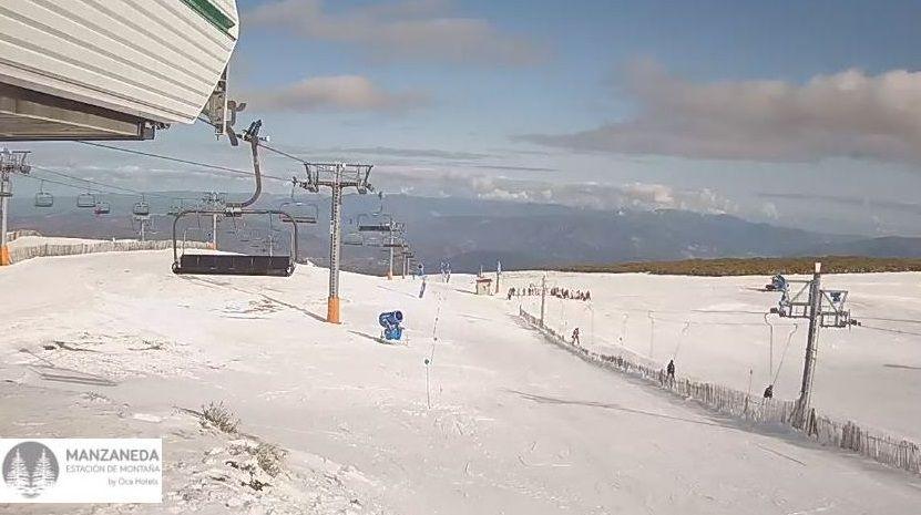 La estación de esquí, ayer