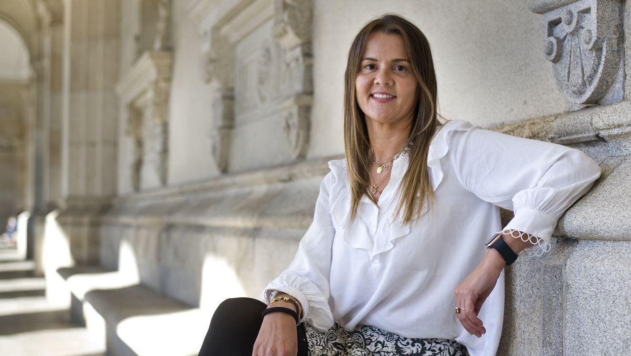 Sonia Estévez Rodríguez, vecina de A Coruña que sufrió un ictus en agosto del 2020, a los 41 años