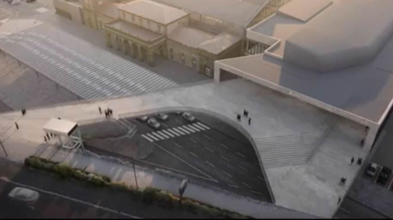 Presentada la intermodal de Santiago: así se transformará la zona.El exdiputado autonómico de Santiago Xosé Antonio Sánchez Bugallo