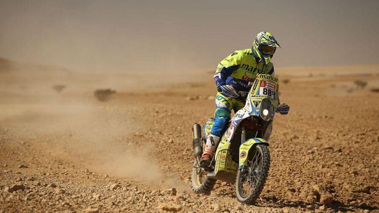 Javier Álvarez en el Dakar 2020