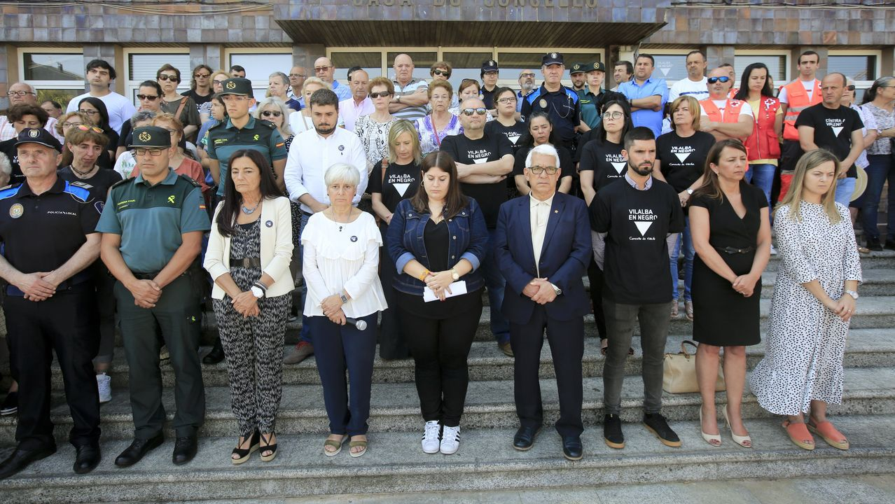 Manifestación de repulsa celebrada en Vilalba, el municipio donde se produjo en crimen