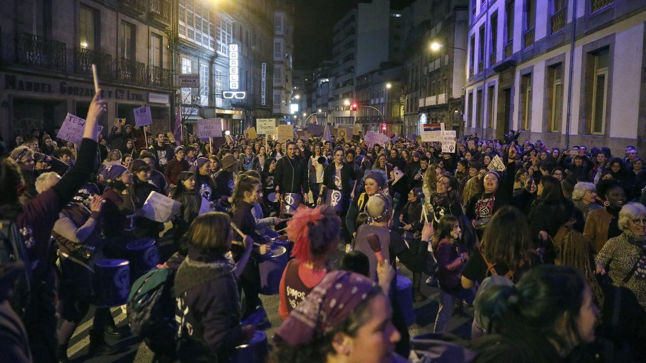 8M en Ourense.Foto de archivo de una manifestacion del 8M en Ourense