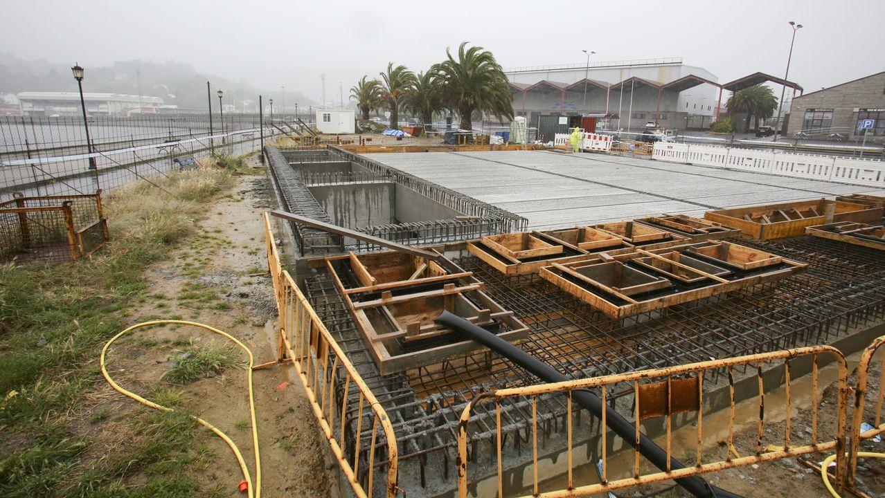 Construcción del tanque de tormenta en A Malata
