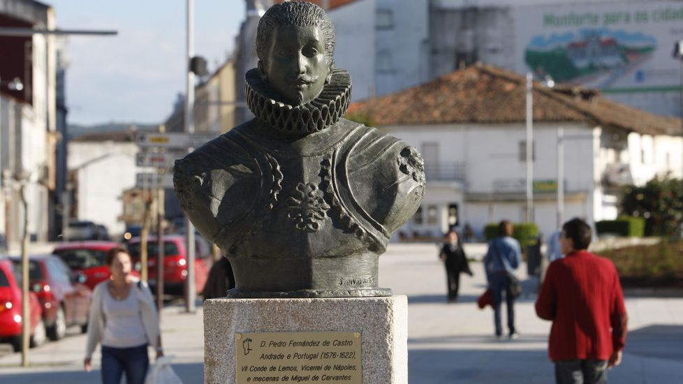 Busto dedicado al séptimo conde de Lemos en el campo de la Compañía de Monforte