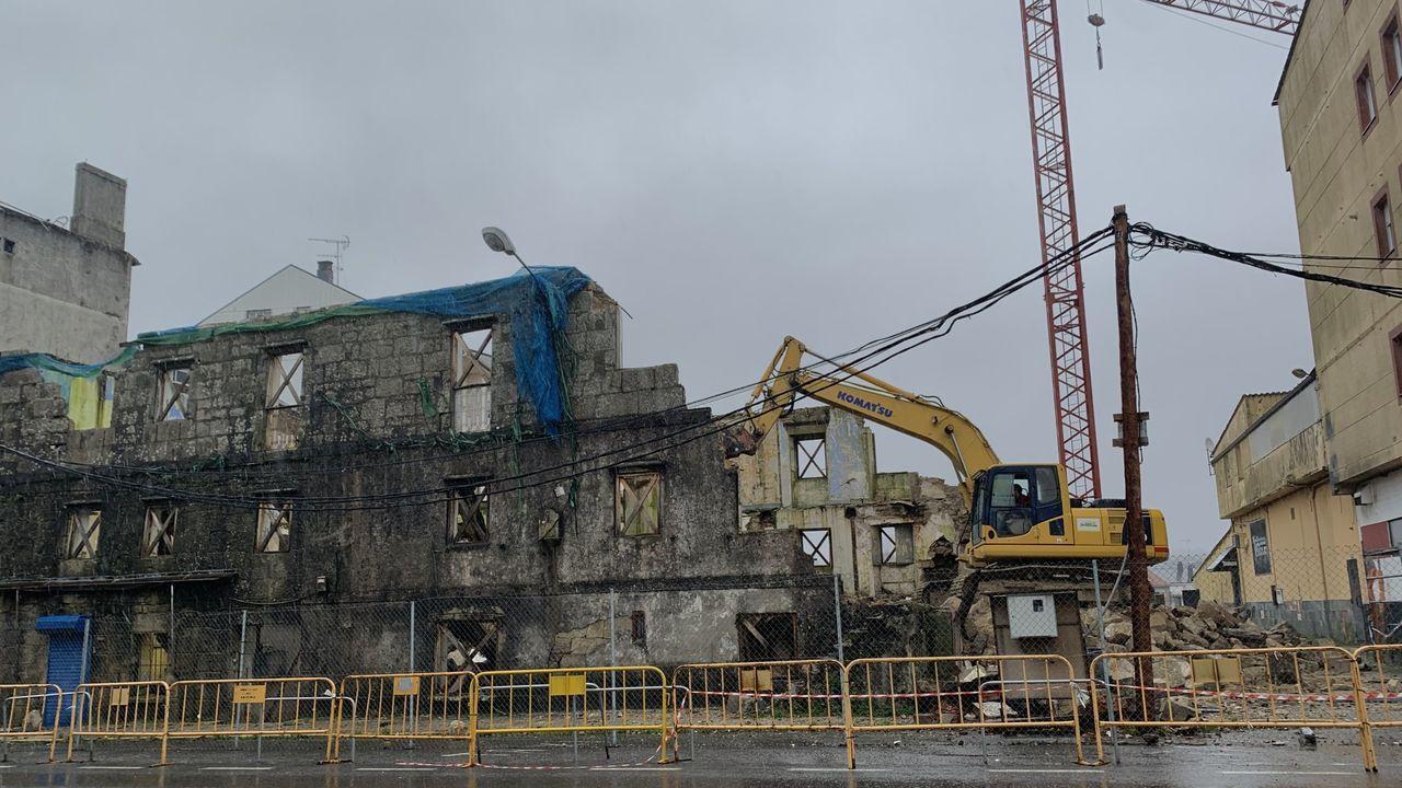 La demolición de la Casa da Botica se realizó a finales de enero