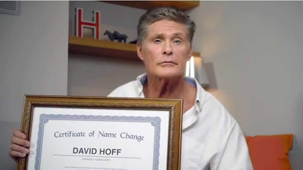 Solo Hoff, David Hasselhoff