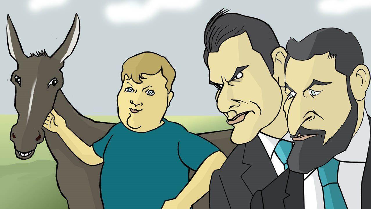 Manel Cráneo (arriba á dereita) leva ao cómic «A nosa cinza», de Xavier Alcalá