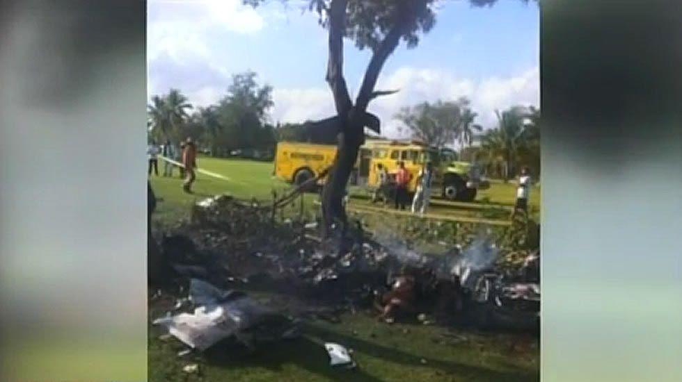 Imágenes del accidente de avioneta en Punta Cana.El ministro de Asuntos Exteiores, José Manuel García Margallo