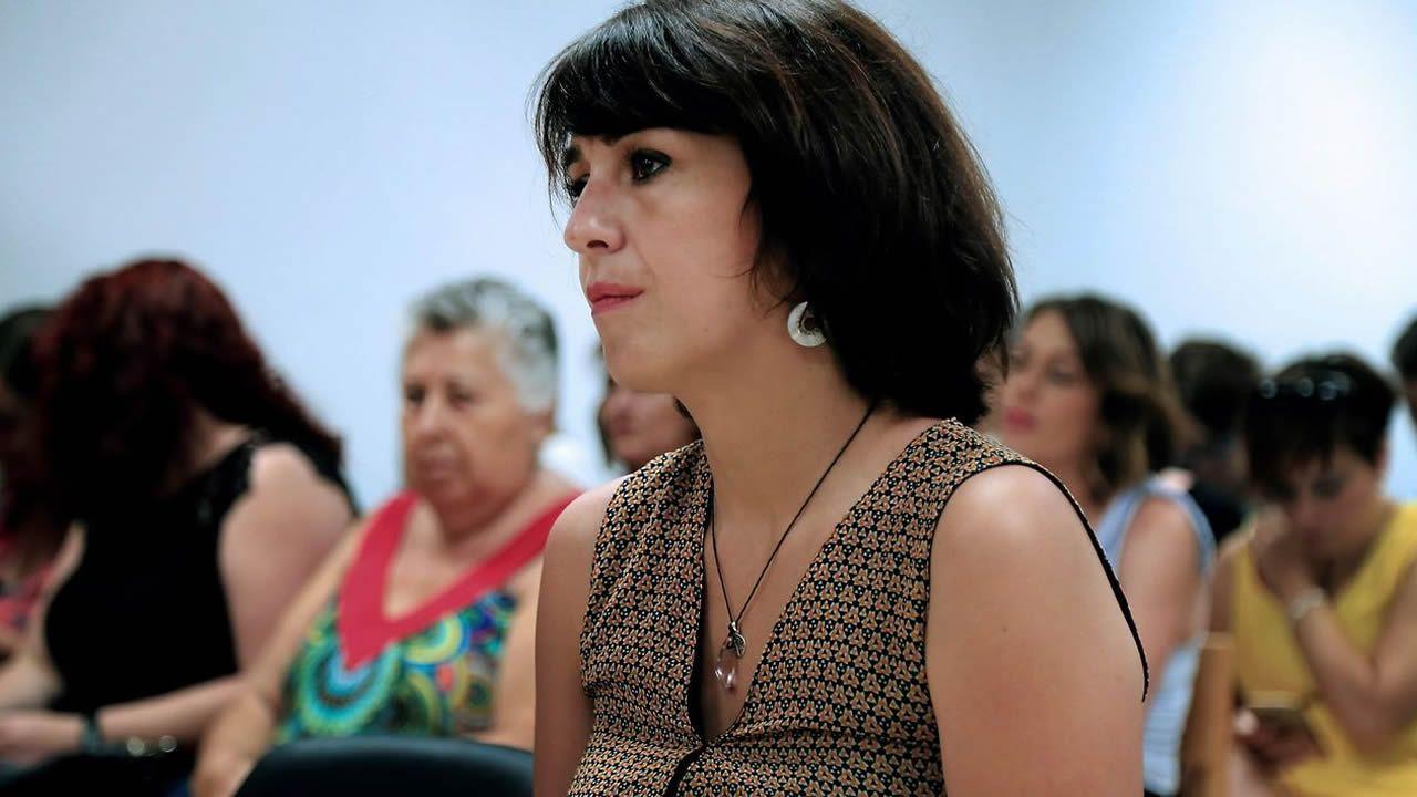   EFE.Juana Rivas, esta mañana en el Juzgado de Granada