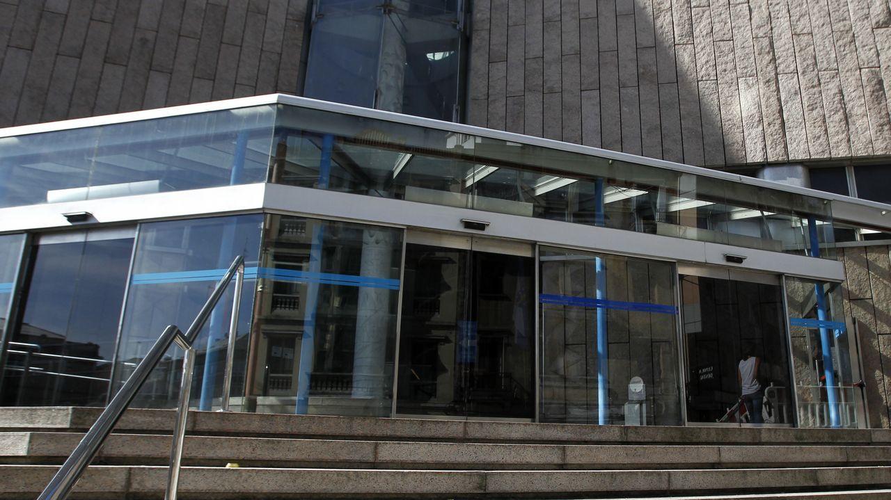 La agresión a varias mujeres a las puertas de un local coruñés.Juzgados de A Coruña