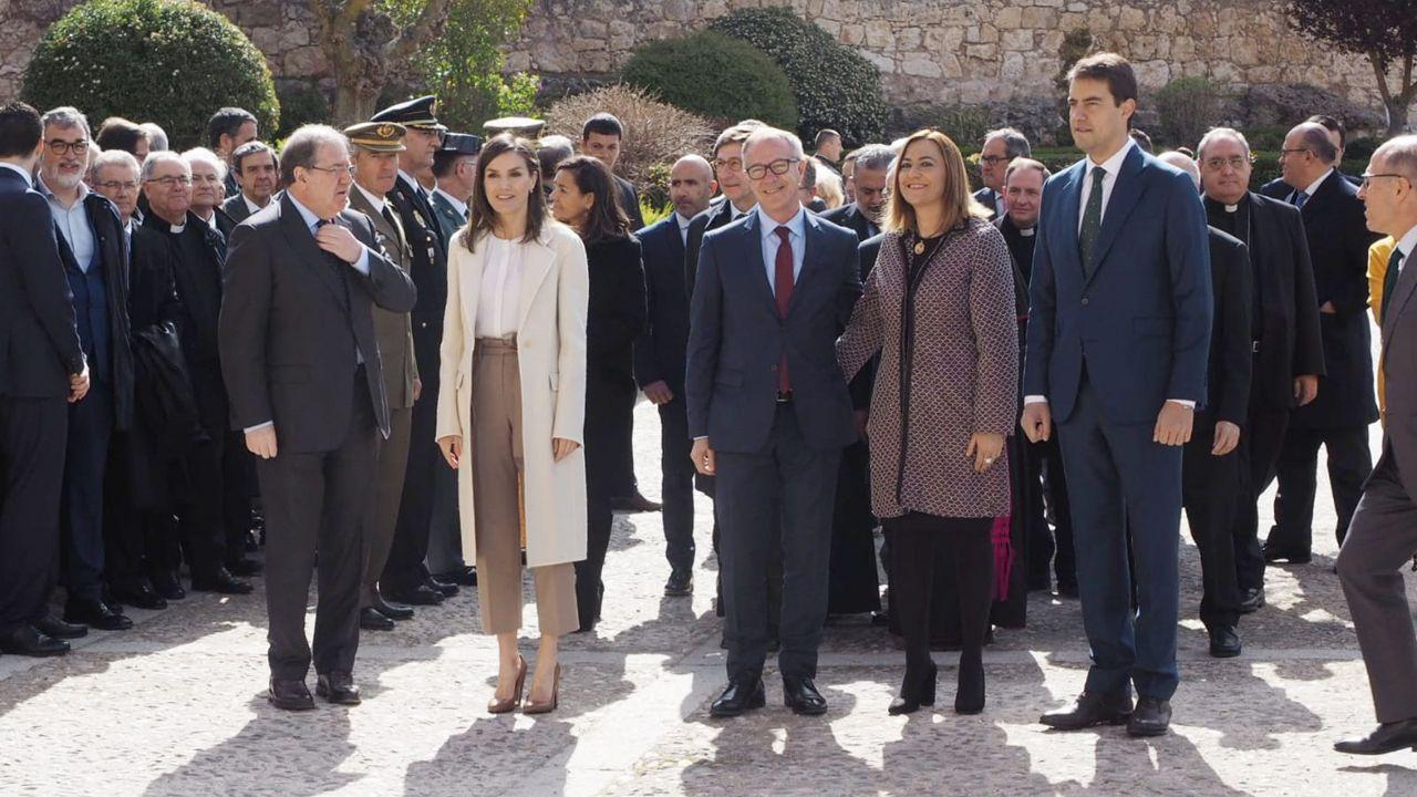 Los «looks» de Letizia Ortiz en las últimas semanas.La Reina Letizia durante su visita a Lerma