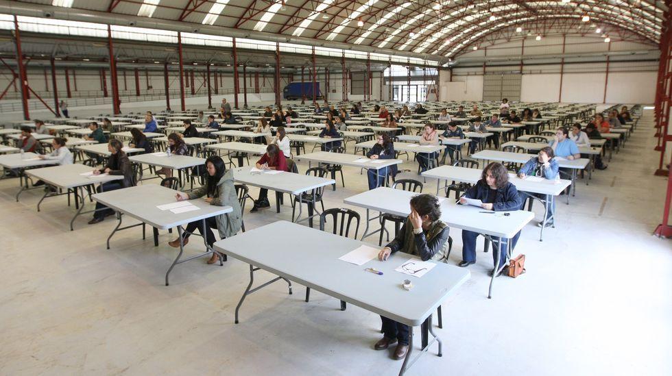 Multitudinario examen en FIMO para la cobertura de una plaza de auxiliar administrativo para el Concello de Ferrol en 2013