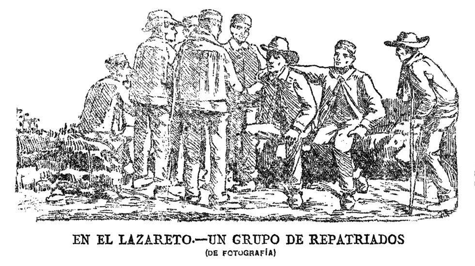 En la sala histórica del cuartel de Dolores de Ferrol.Tres de las cartas de emigrantes que se recuperan en la publicación «Voces de la ausencia»