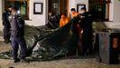 La policía austríaca en el lugar donde se cometió el atentado de Viena