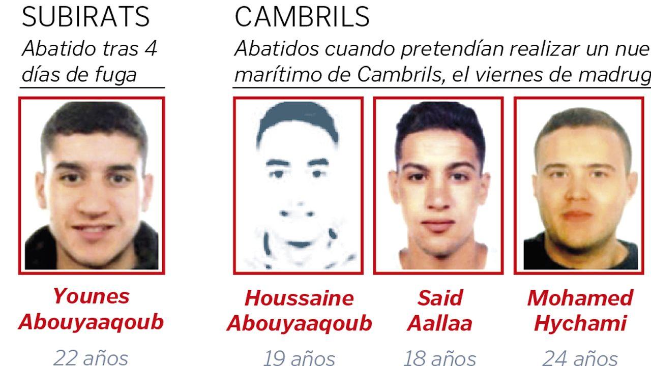 El final del yihadista que atentó en Barcelona tras cuatro días de fuga