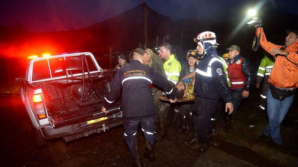 El futbolista Helio Neto a su llegada al hospital donde está siendo atendido