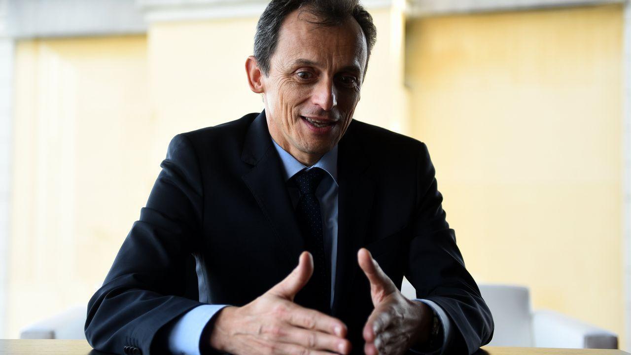 Pedro Duque en un momento de la entrevista