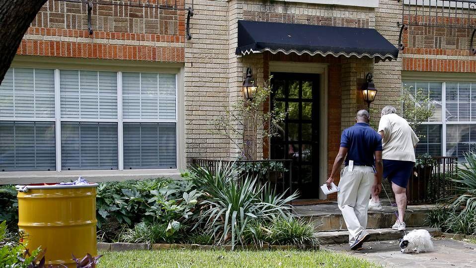 «El enemigo es el ébola, no una persona».Exterior de la vivienda del nuevo caso de ébola en Estados Unidos