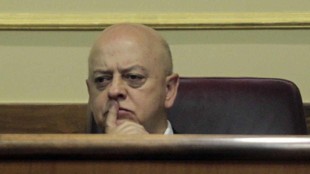 El jefe del Estado Mayor de la Defensa, Miguel Ángel Villarroya, en una comparecencia de prensa en La Moncloa.