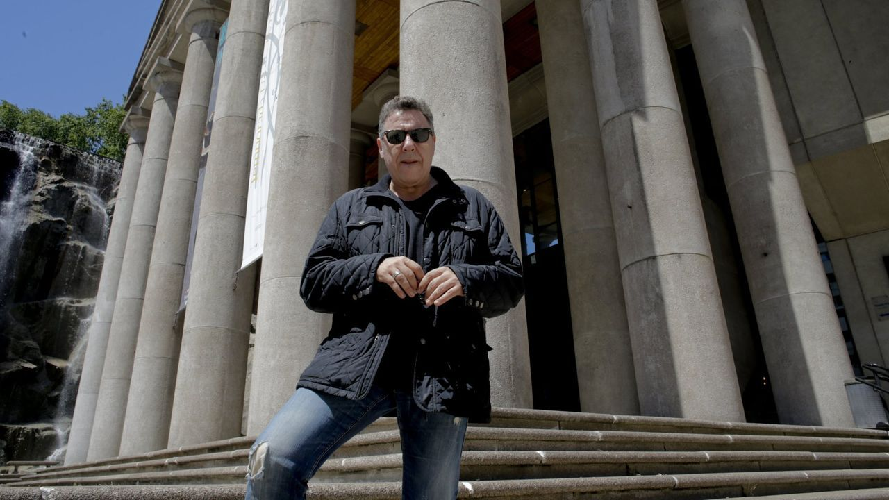 Carlos Goñi, cantante de Revolver, en A Coruña