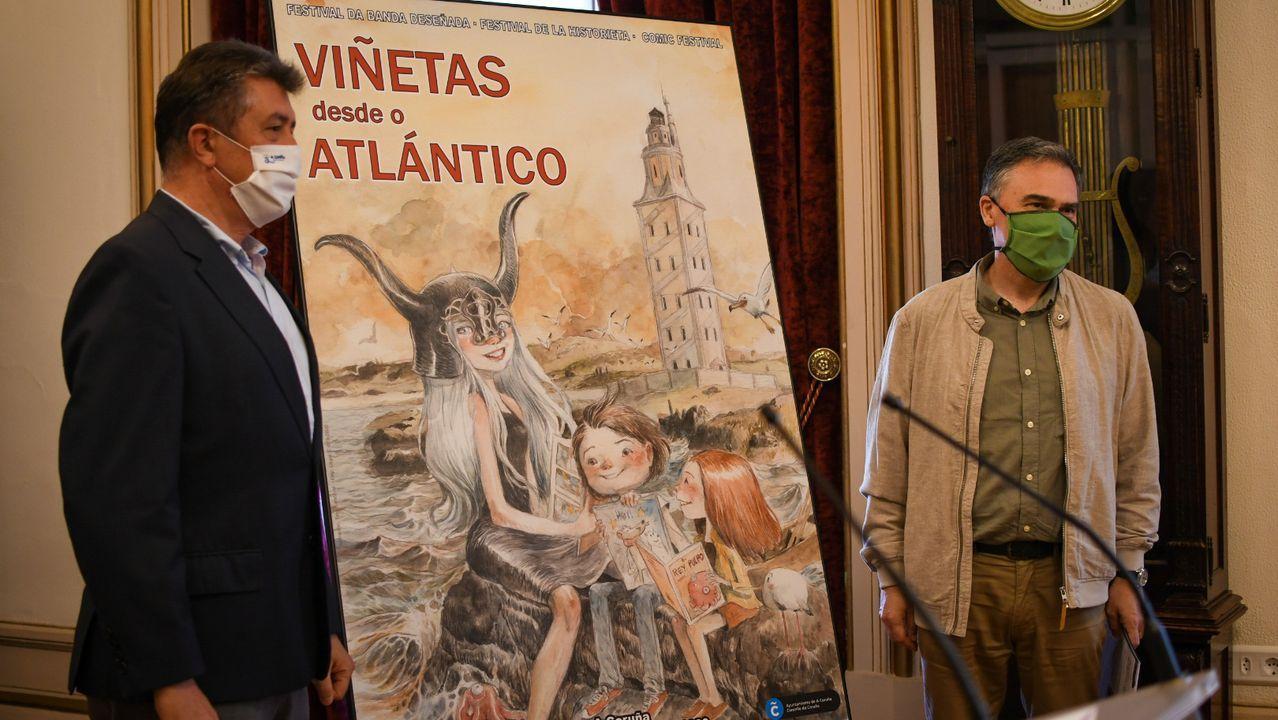 Empieza Viñetas 2020.La presentación de «Viñetas desde o Atlántico» en el ayuntamiento de A Coruña