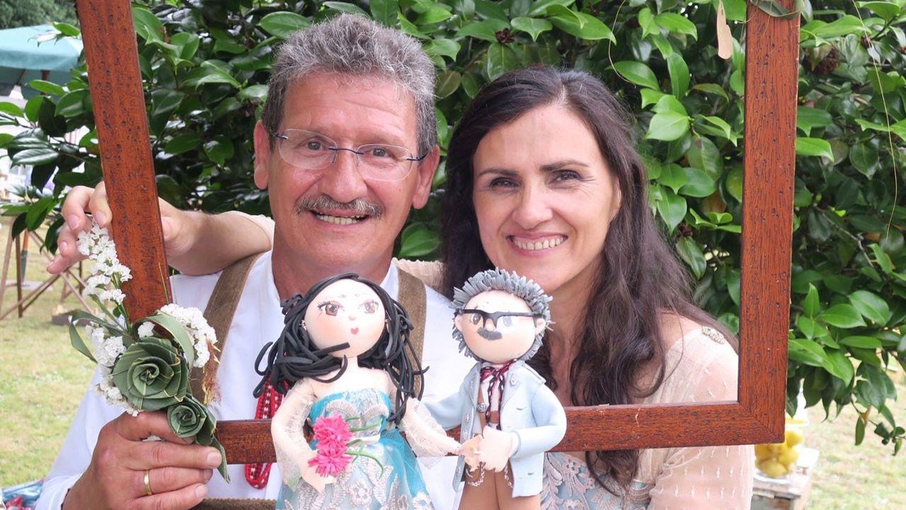 Susana Menéndez y Michael Martin, el día de su boda