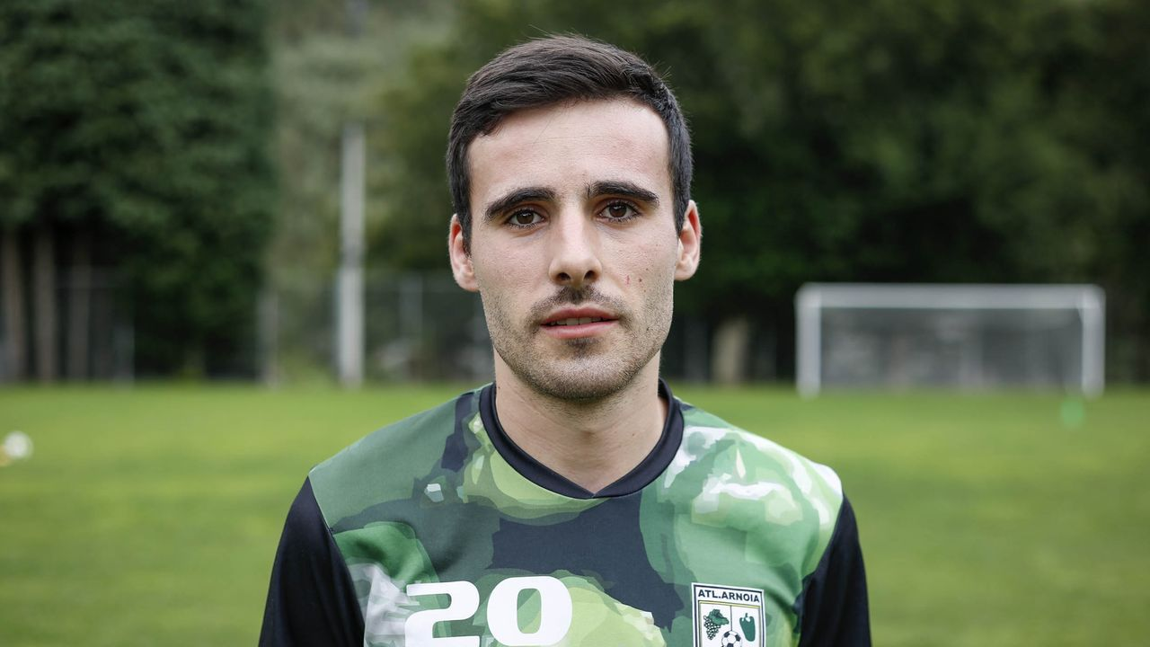 Senén Vázquez, jugador del Atlético Arnoia