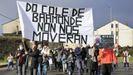 Cacerolada en Baamonde contra el cierre del colegio