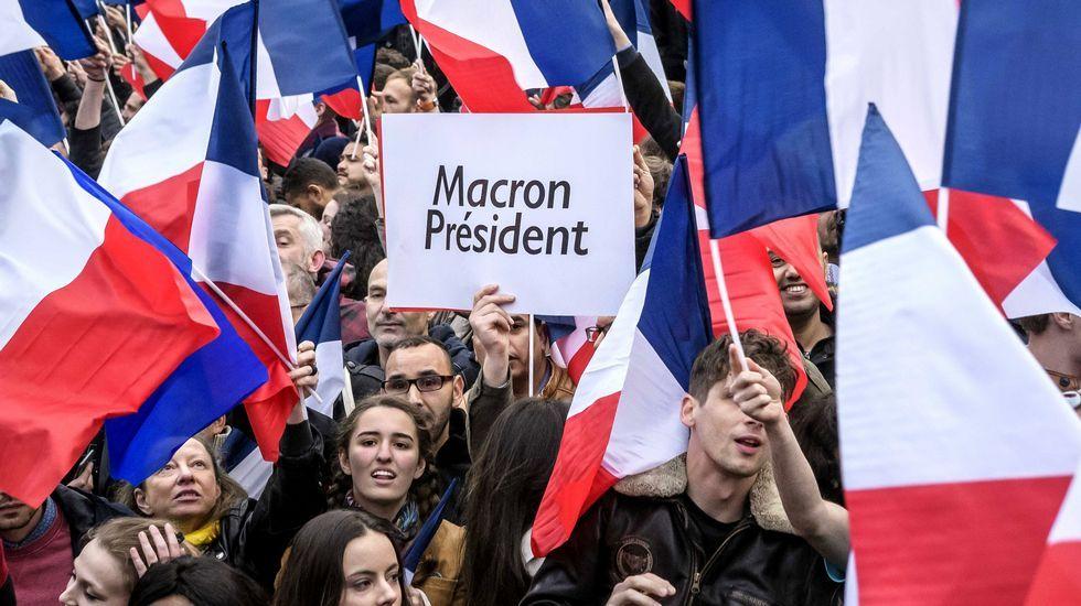 Francia celebra el triunfo de Macron