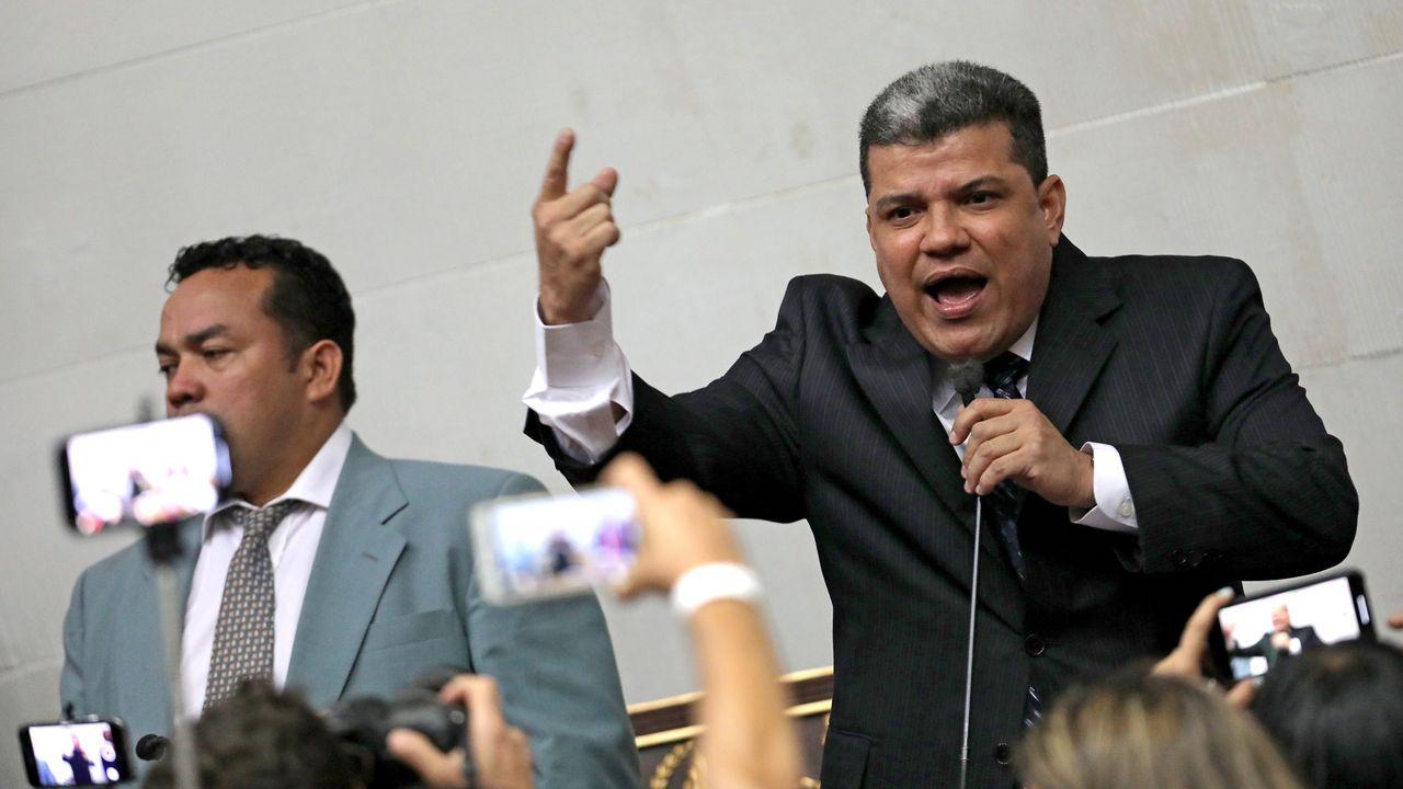 Parra fue elegido por el chavismo y algunos opositores   presidente del Parlamento venezolano el 5 de enero tras impedir la entrada a los opositores