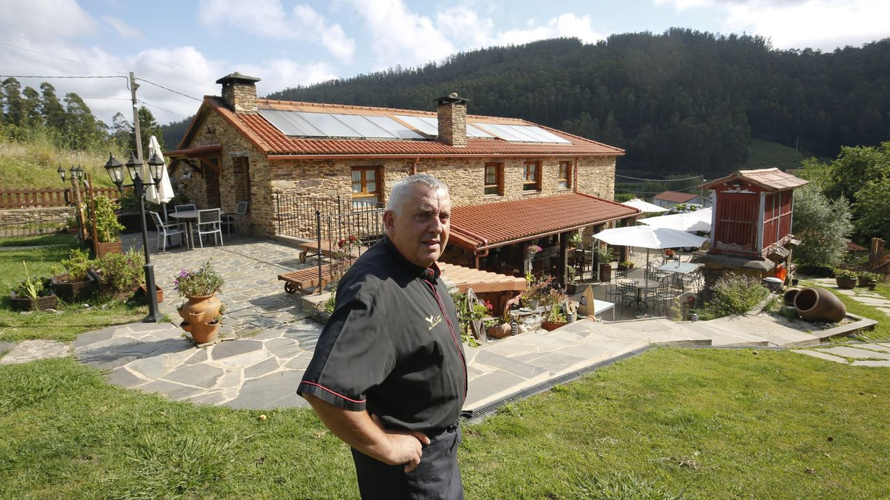 Las imágenes de la final del Pantín Classic.José Picallo, propietario de Casa Morcego, en el municipio de Valdoviño, en una imagen de hace un año