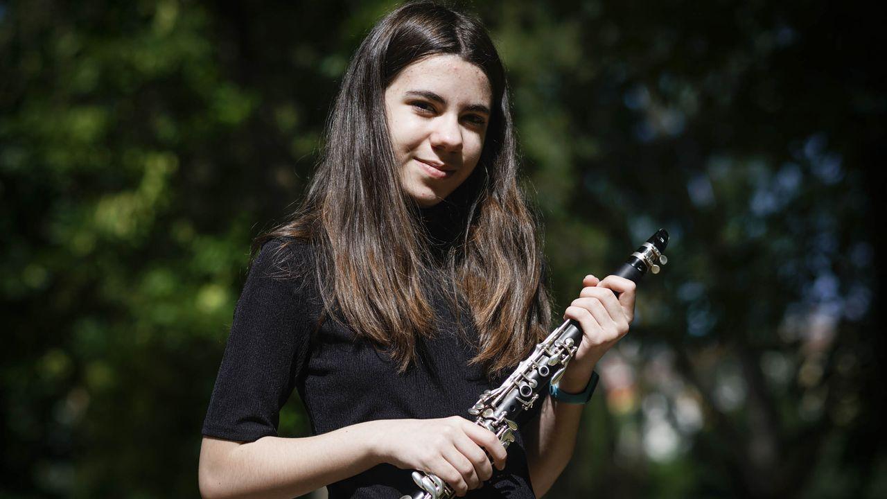 Concierto de la Banda Municipal de A Coruña.La clarinetista ourensana Estela Rodríguez
