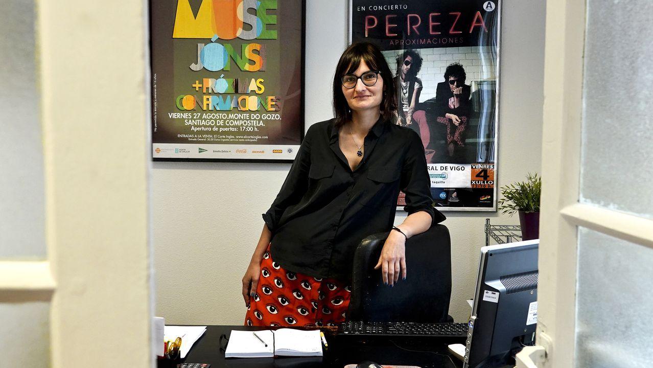 Raquel Seijo en las oficinas de la promotora que codirige, Sweet Nocturna.