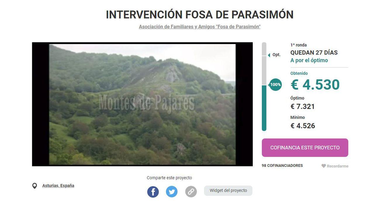 El crowdfunding para excavar la fosa común de Parasimón, en Lena