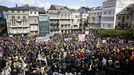 Miles de manifestantes se manifestaron en Viveiro el pasado día 7 contra el cierre de Alcoa