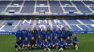 Plantilla del Real Oviedo en el Carlos Tartiere
