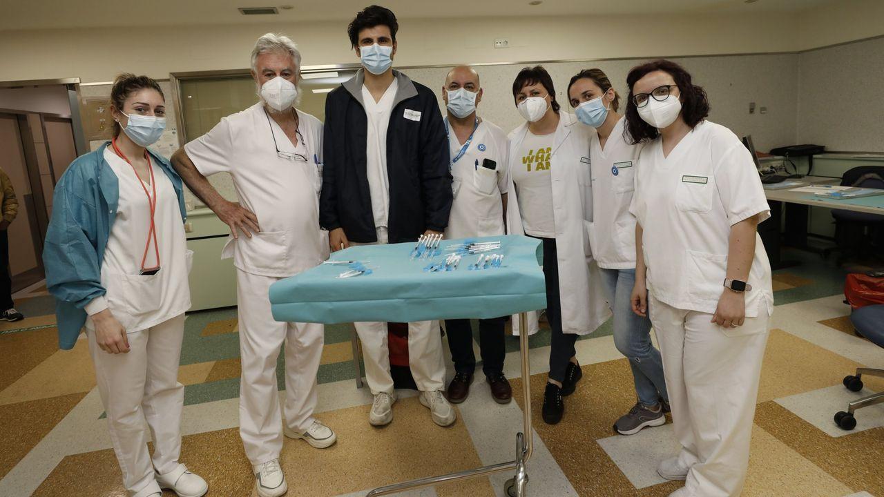 Viveiro vuelve al nivel alto de restricciones por coronavirus.Imagen de archivo de un colegio de A Mariña al inicio del curso que está a punto de terminar, sobre las medidas anti-covid por la vuelta al cole