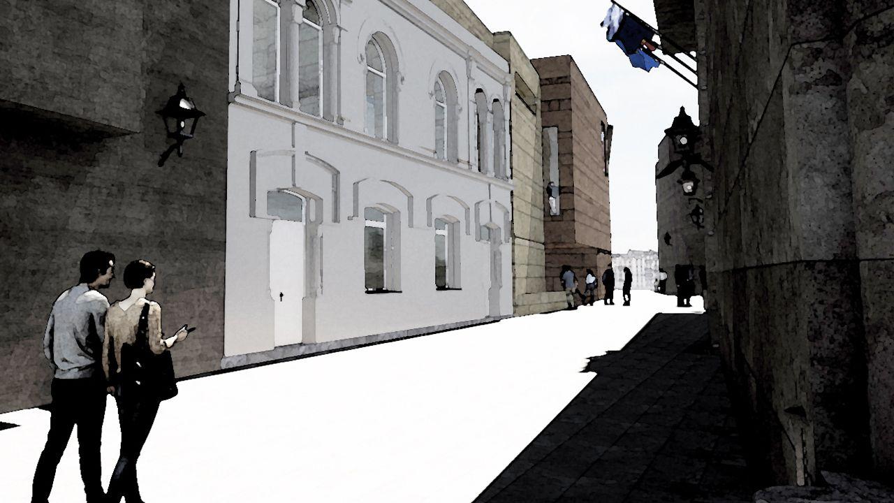Proyecto del Arzobispado para el Martillo de Santa Ana de Oviedo