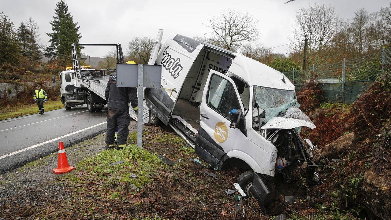 Imagen de uno de los últimos accidentes mortales de Galicia ocurridos en el 2019