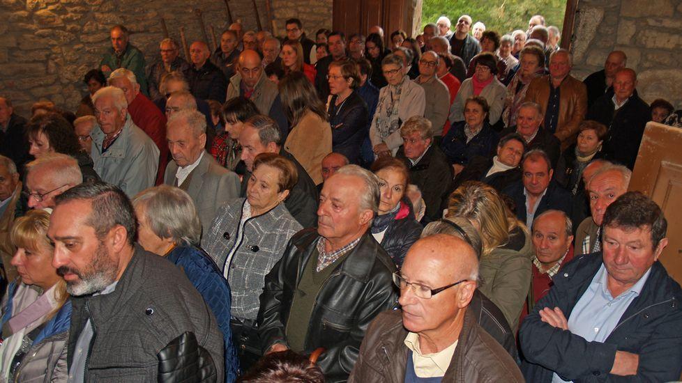 Este año no se verán escenas así en la capilla del castro de San Amaro, no habrá fiesta de San Lucas en Chantada