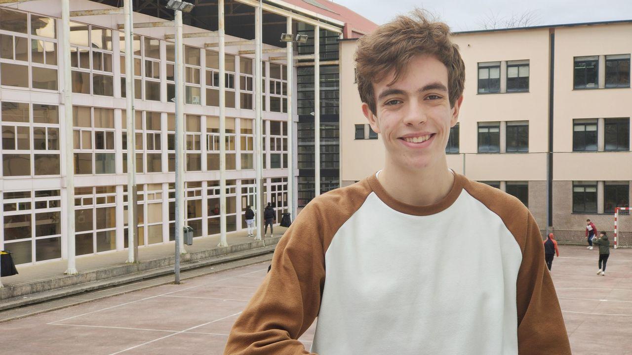 Artur Vázquez es alumno de 2º de bachiller del IES Pontepedriña