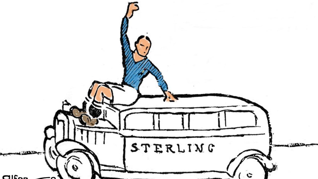 El Sterling, única representación gráfica del autobús
