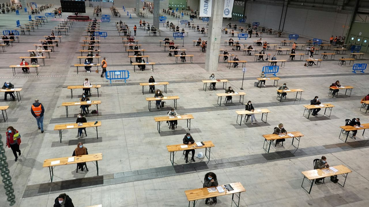 Las pruebas para el proceso de funcionarización de la Xunta que se celebraron en octubre en Silleda fueron la única cita de examen autonómico del año pasado tras irrumpir la pandemia