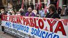 Sindicalistas y familiares de Pablo Costas se concentraron a principios de mes ante el Ministerio de Asuntos Exteriores exigiendo la repatriación del patrón