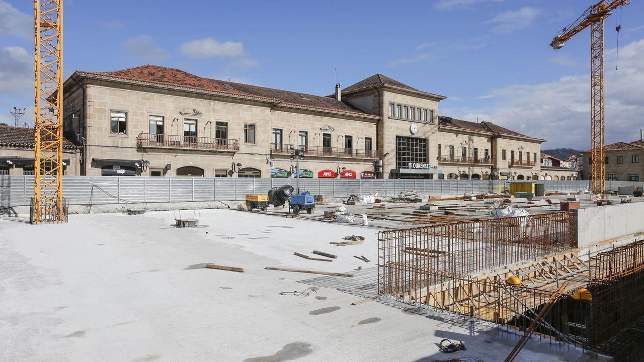 El concejal Telmo Ucha, ingresado en el CHUO.El proyecto conserva el actual edificio de la estación adaptándolo y ampliándolo