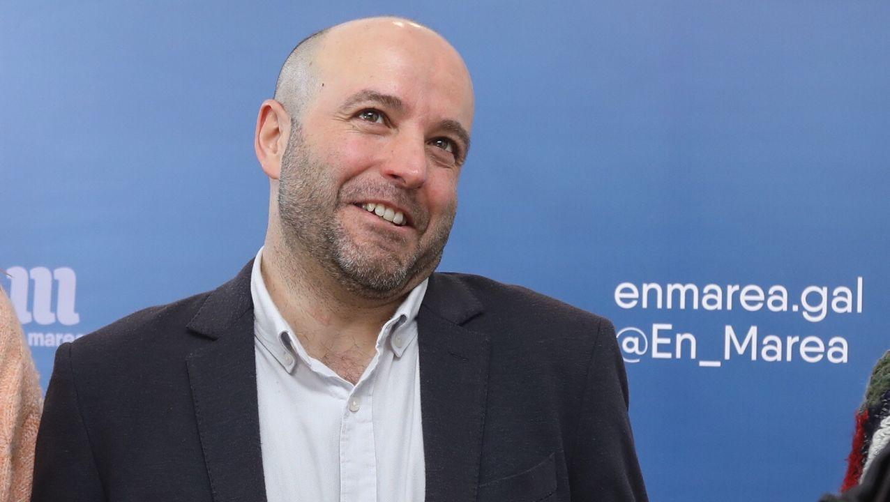 Antón Gómez-Reino, candidato de Podemos a presidir la Xunta de Galicia, en A Coruña