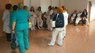 Trabajadores del hospital de Cabueñes protestan por la saturación de trabajo causada por la gripe.Trabajadores del hospital de Cabueñes protestan por la saturación de trabajo causada por la gripe