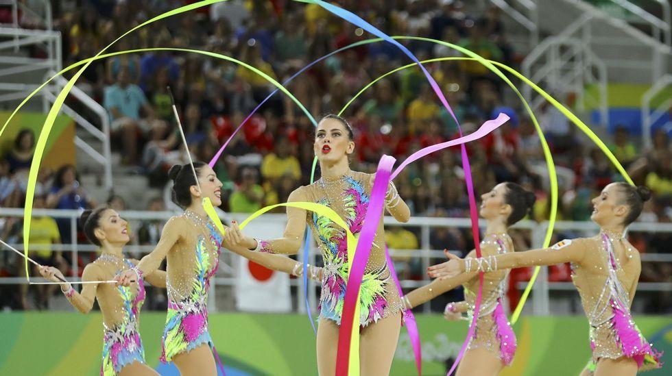 Las mejores fotos de gimnasia rítmica en Río 2016