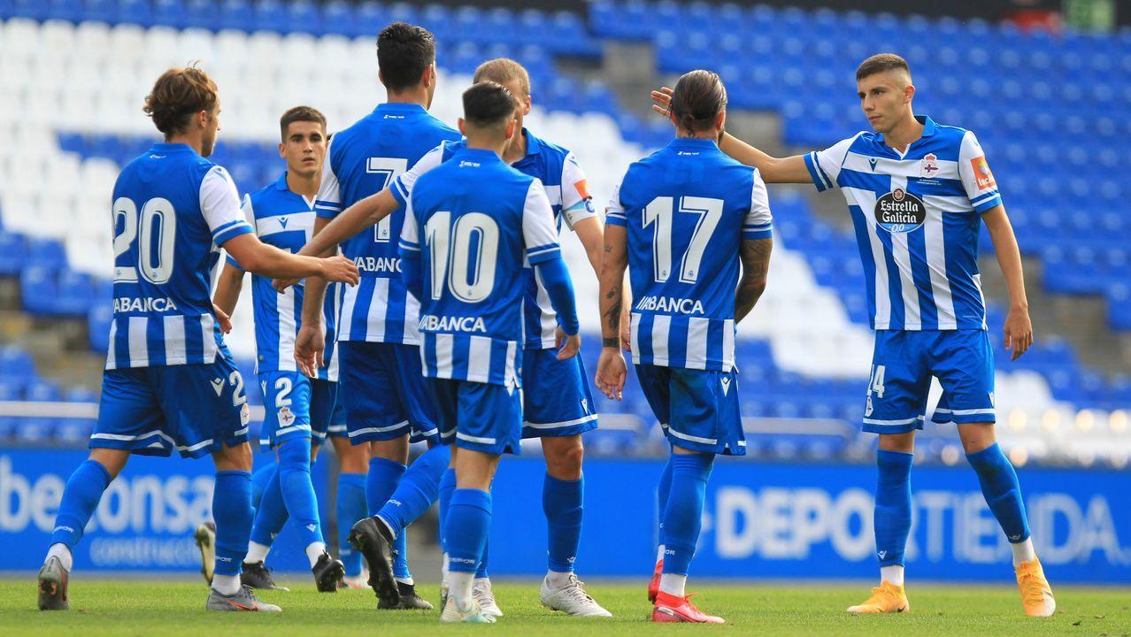 El Deportivo jugó un amistoso contra el Arzúa esta pretemporada en Riazor