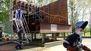 En la imagen, la sección lateral del casco de un barco que están construyendo los alumnos de la familia de Fabricación Mecánica